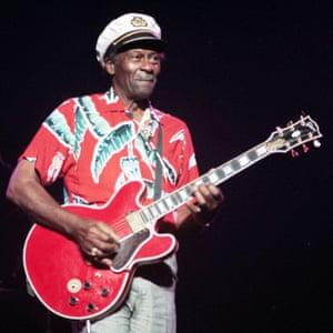 Still rocking it … Chuck Berry on stage.