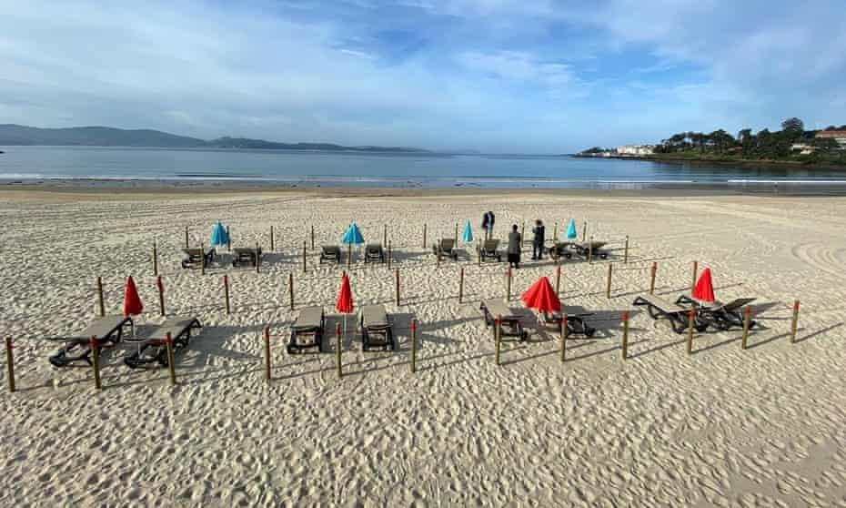 Sanxenxo beach in Galicia.