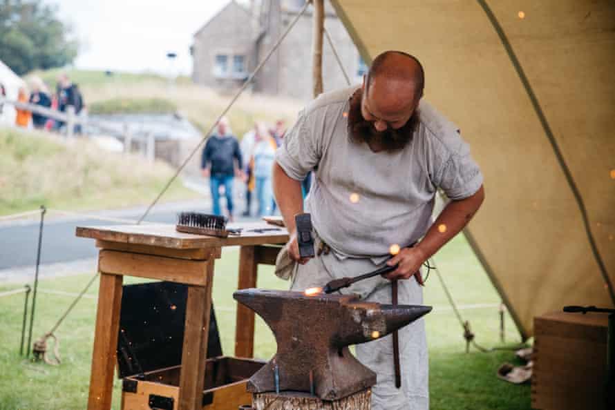 blacksmith re-enactors at Dover Castle