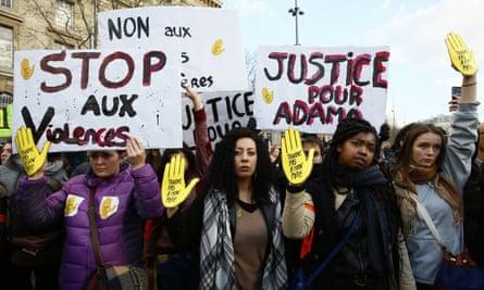 Paris protest over the death of Adama Traoré