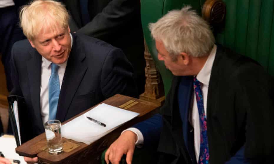 The Commons Speaker, John Bercow and Boris Johnson