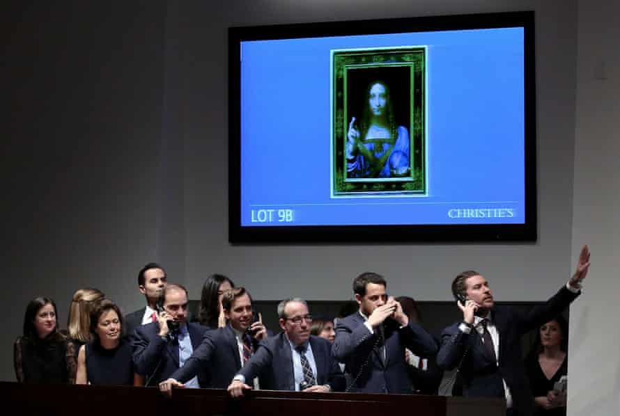 Record sum … excitement at Christie's New York as bidding neared its end on 15 November last year.
