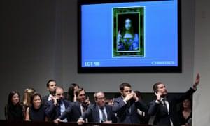 Leonardo da Vinci Painting Salvator Mundi Auction, New York, USA - 15 Nov 2017