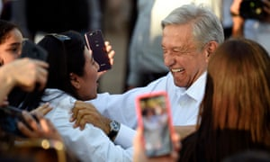 President López Obrador greets people in Badiraguato in Sinaloa state earlier this year.