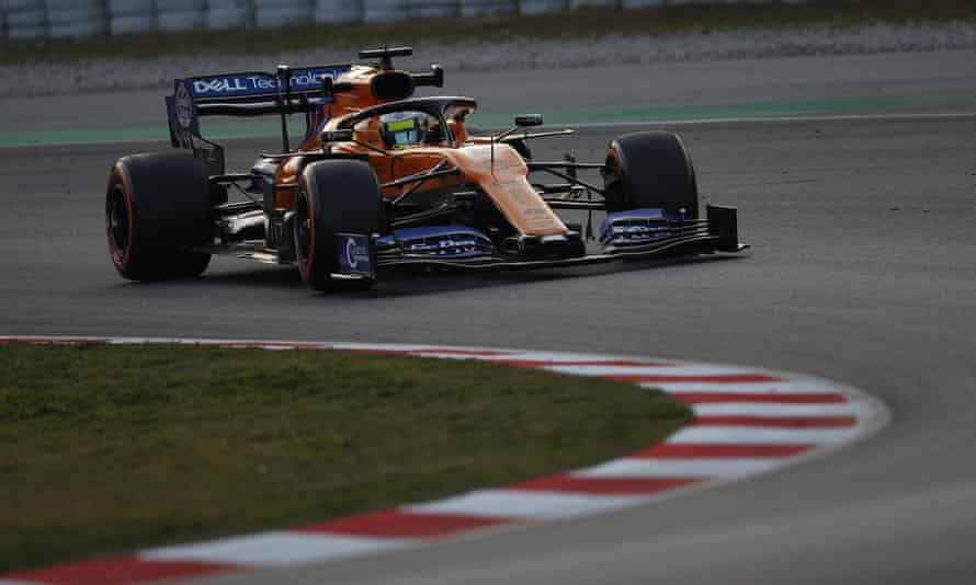 Lando Norris made a controlled and confident start to his new career in Barcelona.