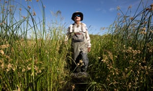 Jeff Cann, a wildlife biologist with the California department of fish and wildlife, in the Grassland ecological area.