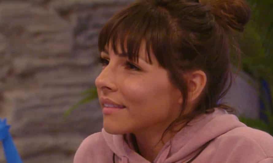 Roxanne Pallett appearing on Celebrity Big Brother.