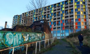 Park Hill flats, which overlook Sheffield railway station.