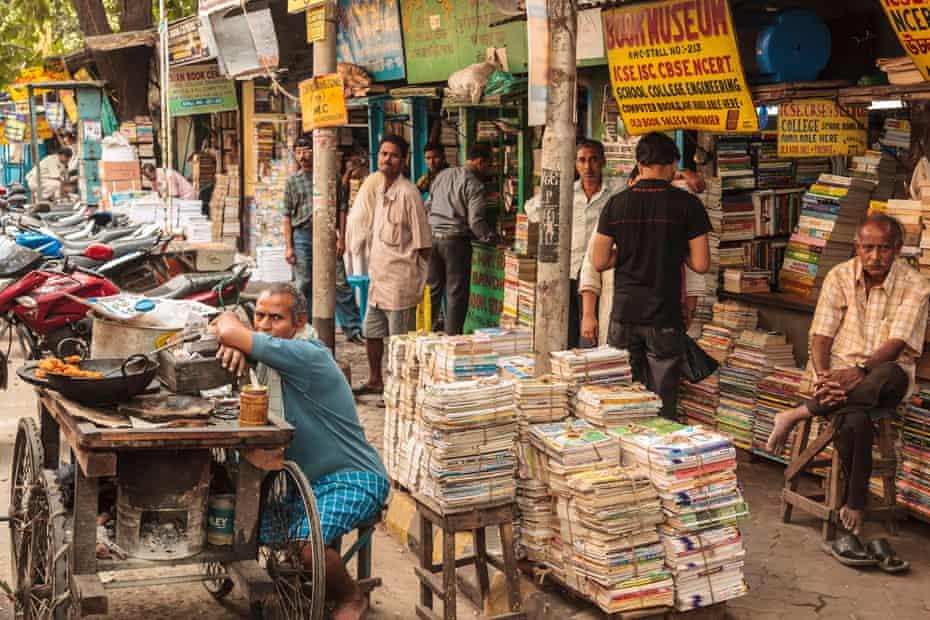 India, West Bengal, Kolkata, Bookstore at college street