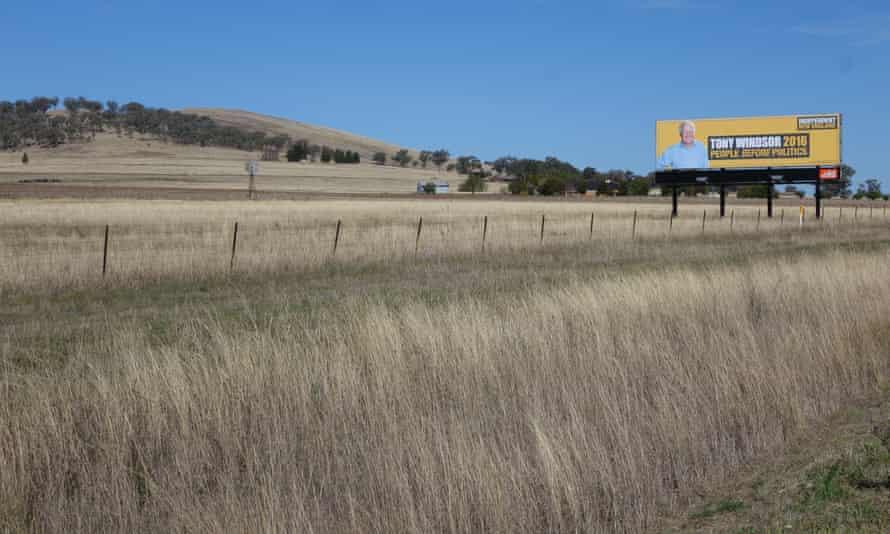 Tony Windsor's billboard just outside Tamworth.