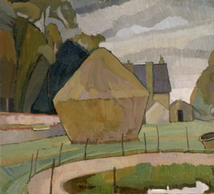 Landscape with Haystack, Asheham (1912) by Vanessa Bell.