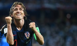 Luka Modric is the third player to have been voted the Guardian's best footballer of the year, following three wins each for Lionel Messi and Cristiano Ronaldo.