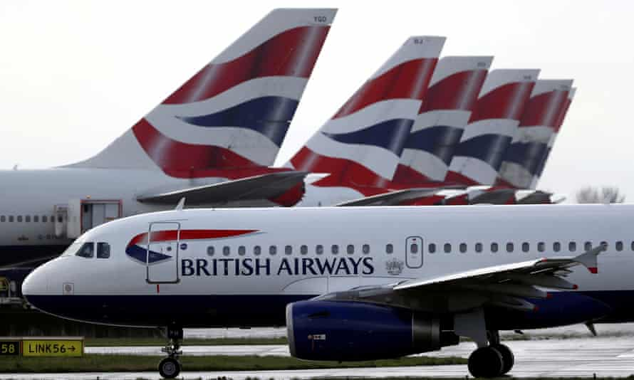 BA grounded planes at Gatwick.