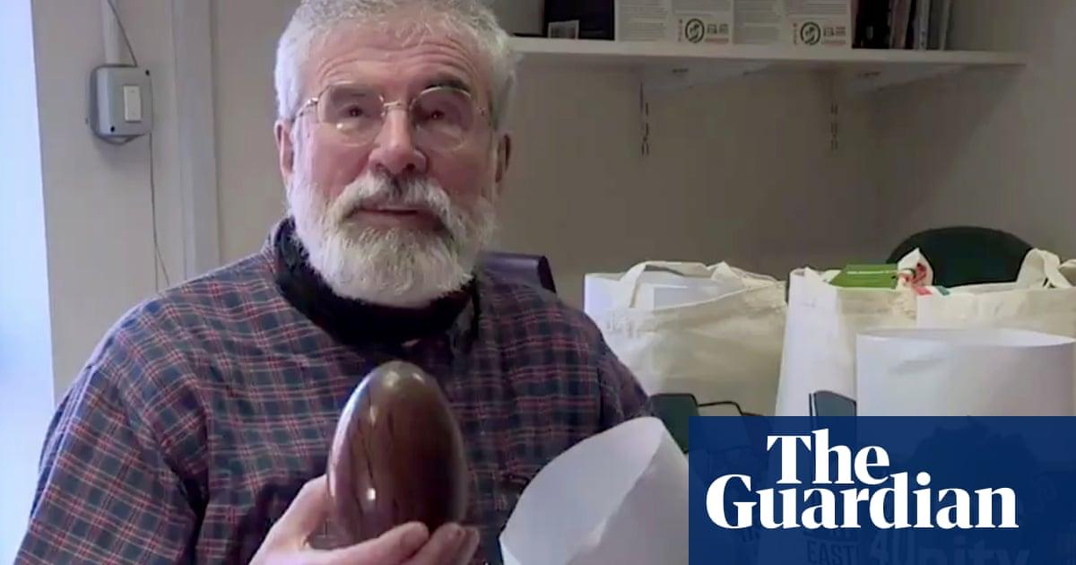 Gerry Adams unveils Irish unity-themed Easter egg
