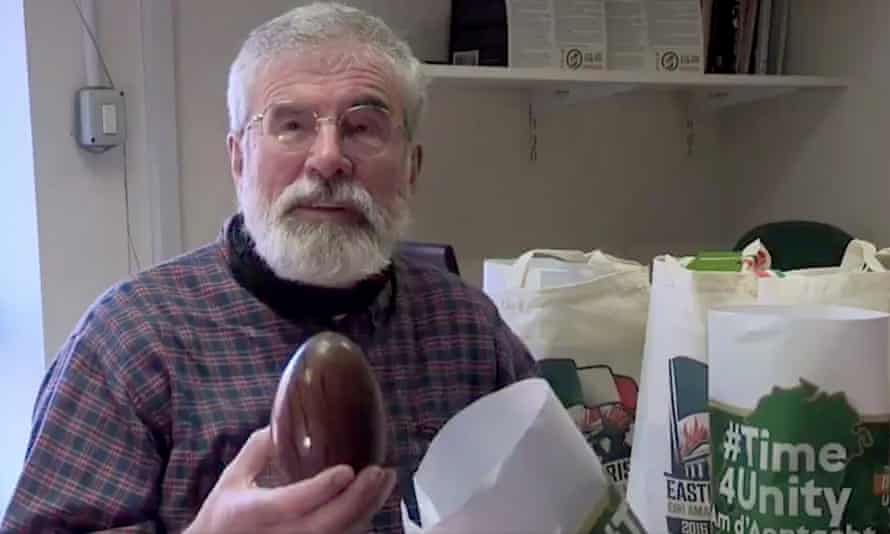 Gerry Adams shared a video in which he introduced the #Time4Unity Easter eggs.