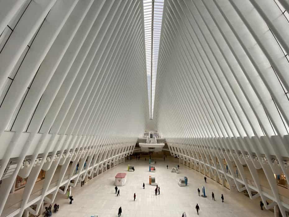 The Oculus mall in downtown Manhattan was quiet.