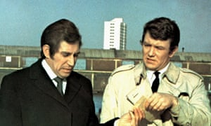 Frank Finlay and Albert Finney in Gumshoe, 1971.