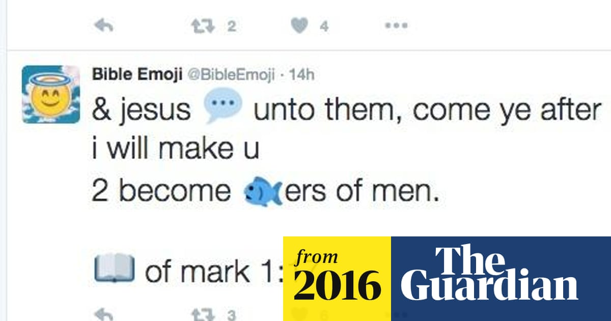 The Emoji Bible has arrived     sometime after God created