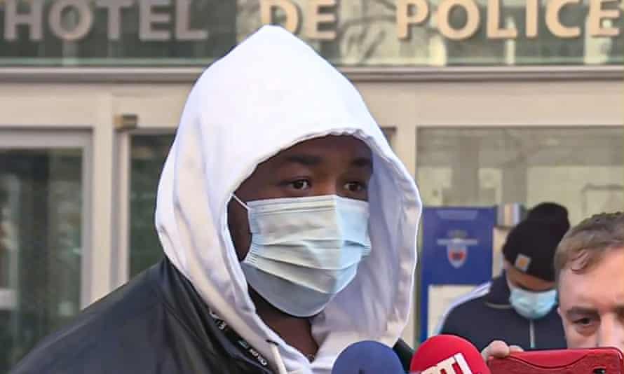 Michel Zecler speaks to the media