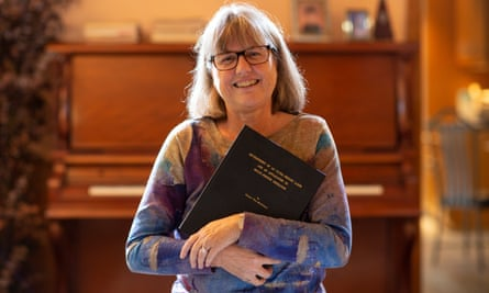 Donna Strickland, the Nobel prize for physics winner at her home in Waterloo, Ontario, Canada on 2 October.