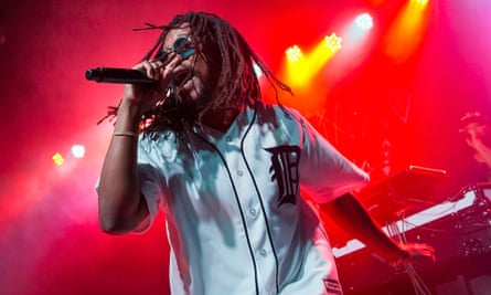 Lupe Fiasco performing in Detroit.