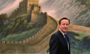 David Cameron visiting China during his first term as prime minister.