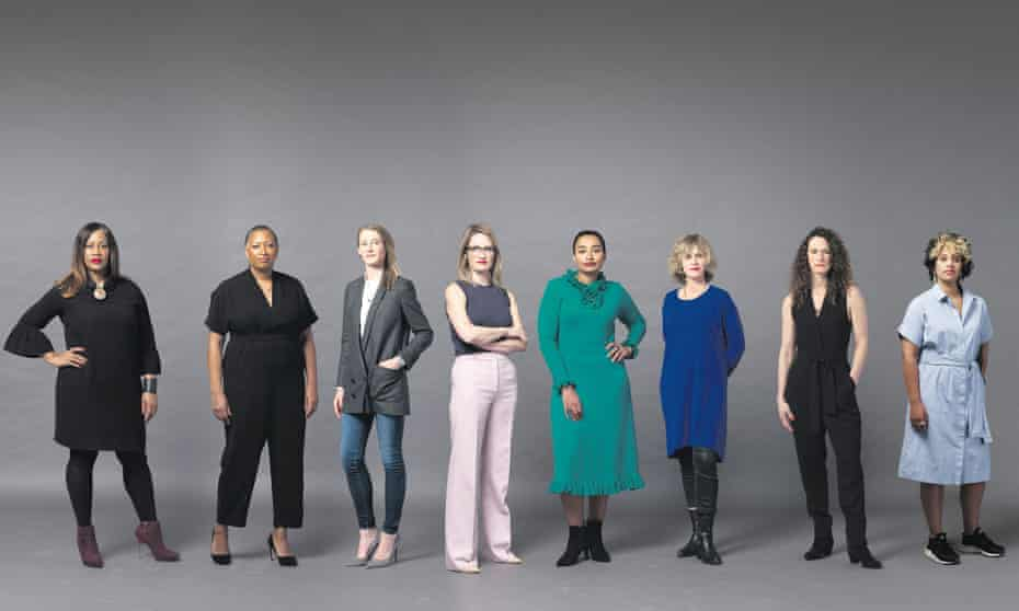 Women in advertising, left to right: Karen Blackett of WPP, Sarah Jenkins of Grey London, Jo Wallace of JWT London, Jo Arden of MullenLowe, Sereena Abbassi of M&C Saatchi Group, Ali Hanan of Creative Equals, independent consultant Victoria Brooks and Stephanie Matthews of Virgin Group