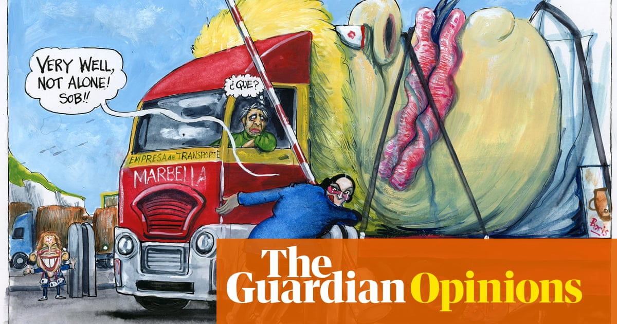 Martin Rowson on new rules allowing in foreign lorry drivers more often – cartoon