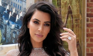 Kim Kardashian West shows off one of her rings in this May 2016 image.