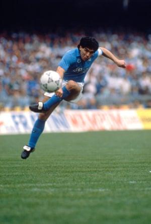 Diego Armando Maradona, Soccer Championship Serie A., 1990.