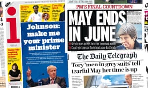 Front pages of the UK Papers on Friday 17 May 2019.