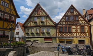 Rothenburg ob der Tauber, on the Romantic Road in Franconia, Germany.