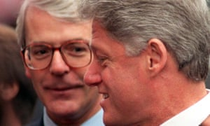 Bill Clinton, who was a hit with Portsmouth locals on a visit to mark the 50th D-day anniversary, with the then prime minister John Major.