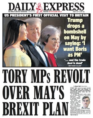 Express front page, Friday 13 July