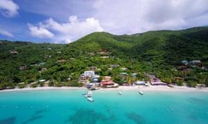 The Caribbean island of Tortola.