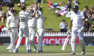 Tim Southee of New Zealand celebrates