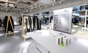 The Scandinavian-style North Wind display, in co-operation with the Copenhagen International Fashion Fair, at London's Harvey Nichols.