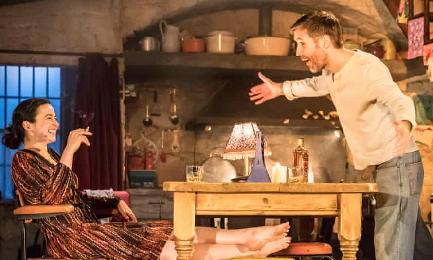 Laura Donnelly (Caitlin Carney) and Paddy Considine (Quinn Carney) in The Ferryman by Jez Butterworth, at the Royal Court theatre, London, 2017.