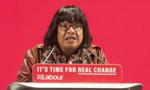 The shadow home secretary, Diane Abbott
