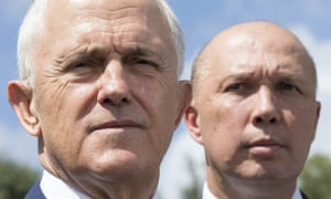 Malcolm Turnbull and Peter Dutton in Brisbane on Tuesday.
