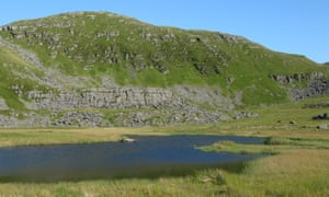 Llyn y Dywarchen, a silent and remote tarn in Eryri.