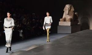 Models walk the runway at Chanel's Metiers d'Art show