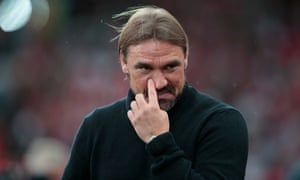 Daniel Farke will be hoping for a first Premier League win as manager.