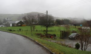 Frongoch field where the distillery buildings stood