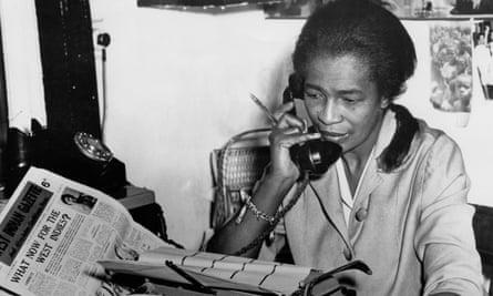 Claudia Jones in her Brixton office in 1962.