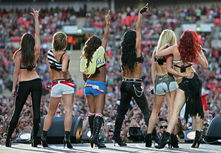 The Pussycat Dolls perform at the Live Earth concert at Wembley stadium in London, July 2007.