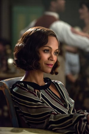 Only required to look foxy and concerned … Zoe Saldana in Live by Night.