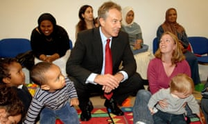Tony Blair visiting a sure start centre in west London in 2006