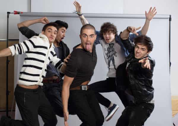 The Wanted in 2011, with Parker, left.