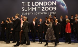 World leaders at the G20 summit in London in 2009